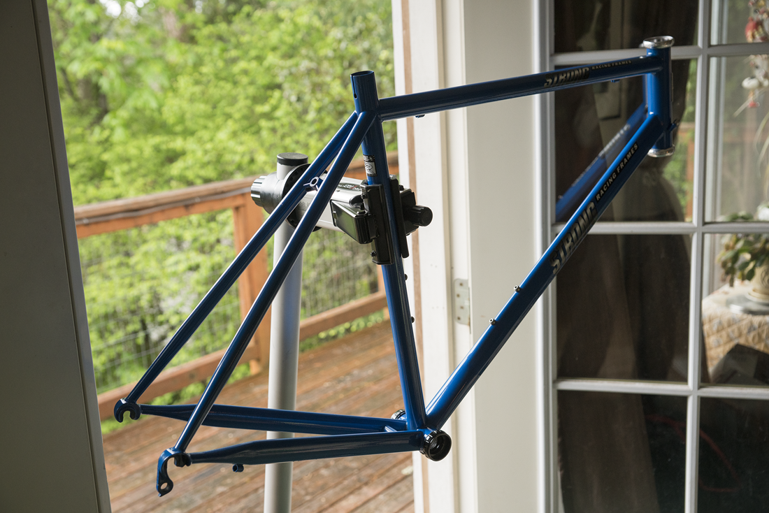 a new Carl Strong Foco Racing Frame… || blog.peterlombardi.com